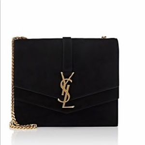 Saint Laurent Monogram Montaigne Medium Suede Bag